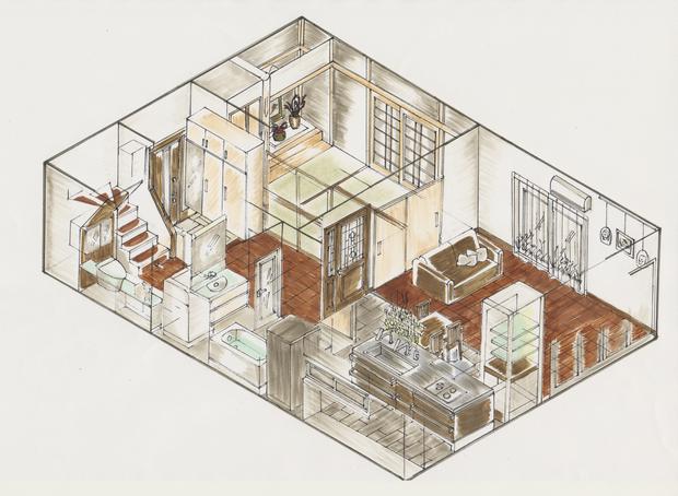 対面式キッチンを入れてリビングと一体化したLDKをご提案。