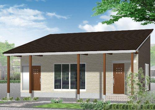 CADパース図でご提案したN邸の外観イメージ