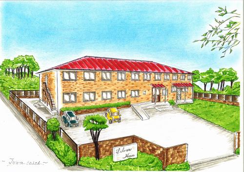 """赤い屋根が印象的なサービス付き高齢者住宅""""シルバーハウス大宝"""""""