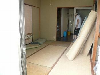 施工中の和室